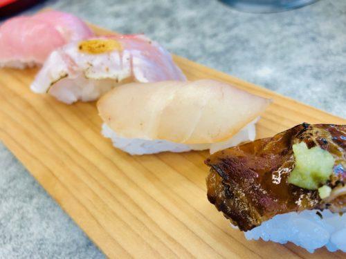 回転寿司 魚どんや 下田魚市場に水揚げされた金目鯛を道の駅で!