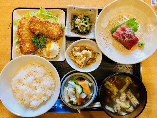 食い処 飲み処 むろ井|伊豆の国市で刺身やフライ付き昼定食が美味